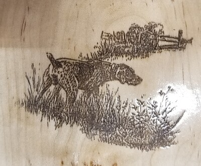 2 Track Cribbage Board w/pointer engraving