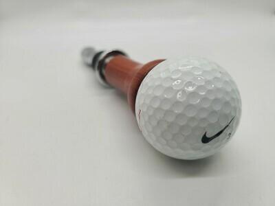 golf ball bottle stopper and corkscrew