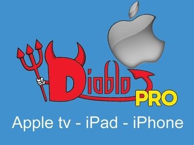 Diablo pro iptv APPLE TV, IPAD, IPHONE 14 MOIS POUR LE PRIX DE 12