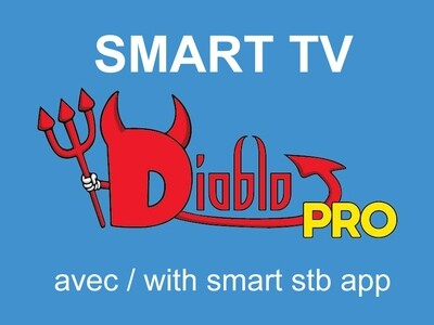 Diablo pro iptv Smart tv 14 MOIS POUR LE PRIX DE 12