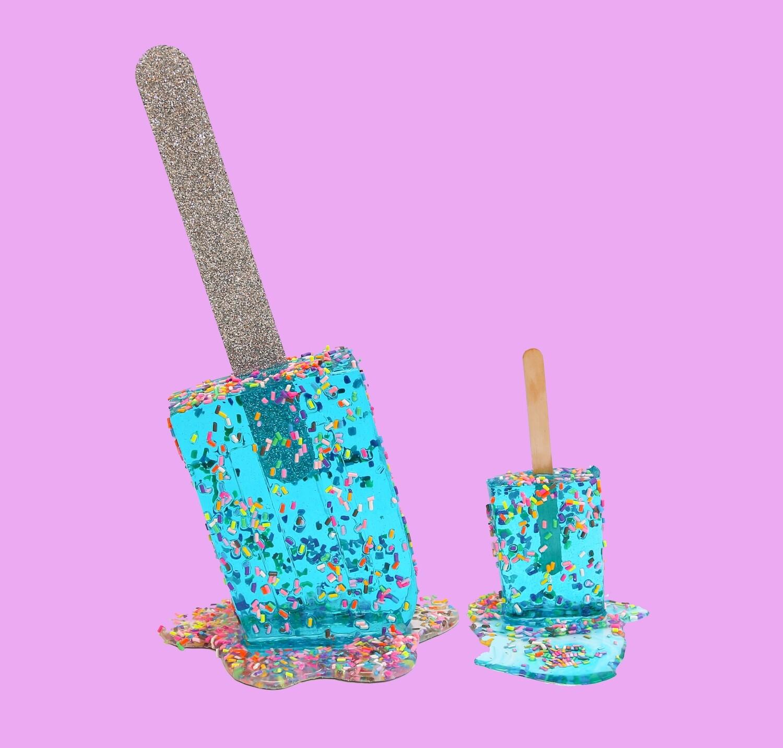 Super Mirrored Aqua Sprinkle Pop, 2021