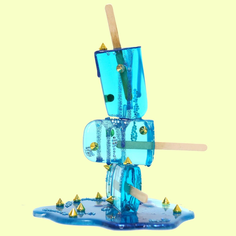Aqua Spike Stack, 2021