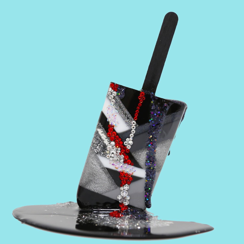 Melting Popsicle Art - Ruby Flash - Original Melting Pops™