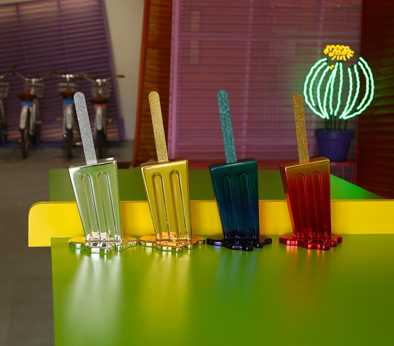 Melting Popsicle Art - Midnight Chrome Pop - Edition 1/20 - Original Melting Pops™