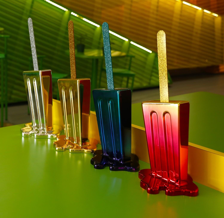 Melting Popsicle Art - Sunset Chrome Pop - Edition 1/20 - Original Melting Pops™