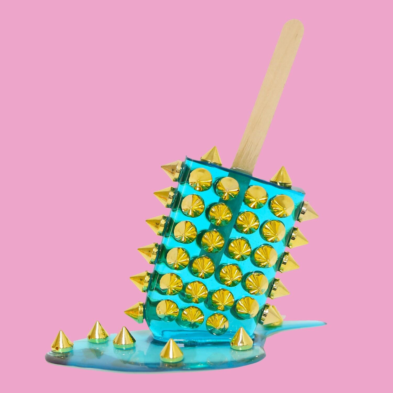 Melting Popsicle Art - Aqua Spiketastic - Original Melting Pops™