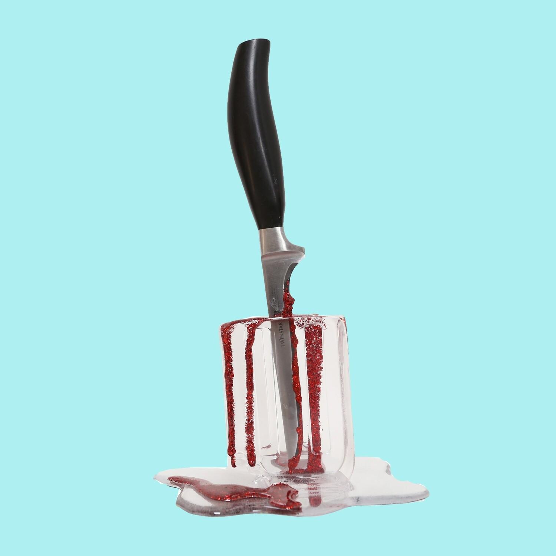 Melting Popsicle Art - Bigger Knifesicle - Original Melting Pops™