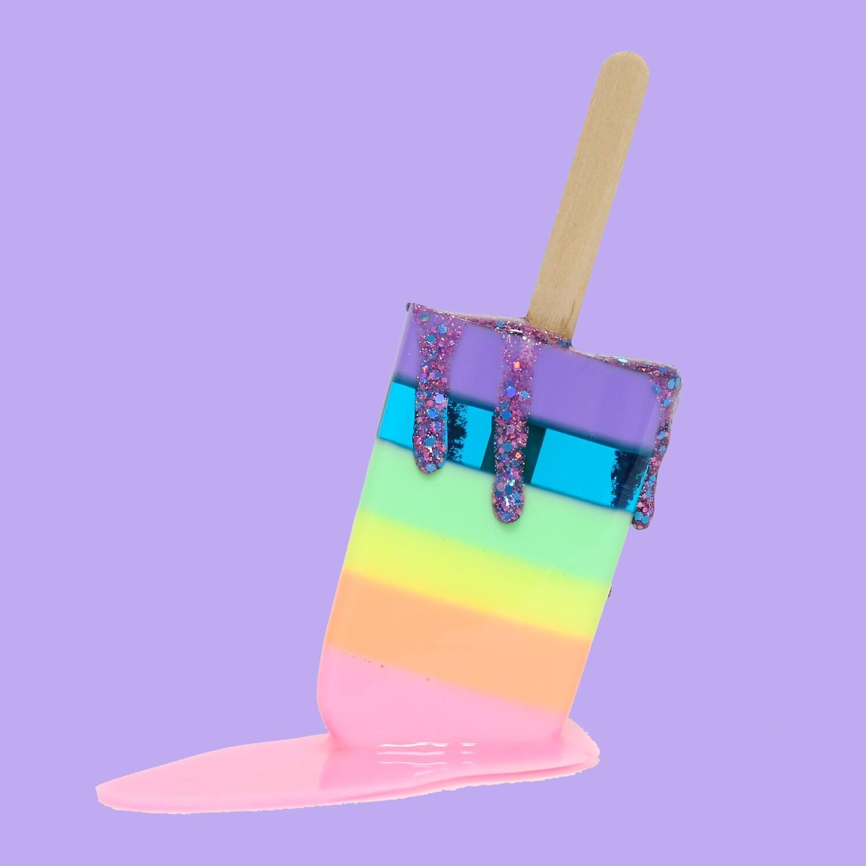 Melting Popsicle Art - Pastel Rainbow Pop - Original Melting Pops™