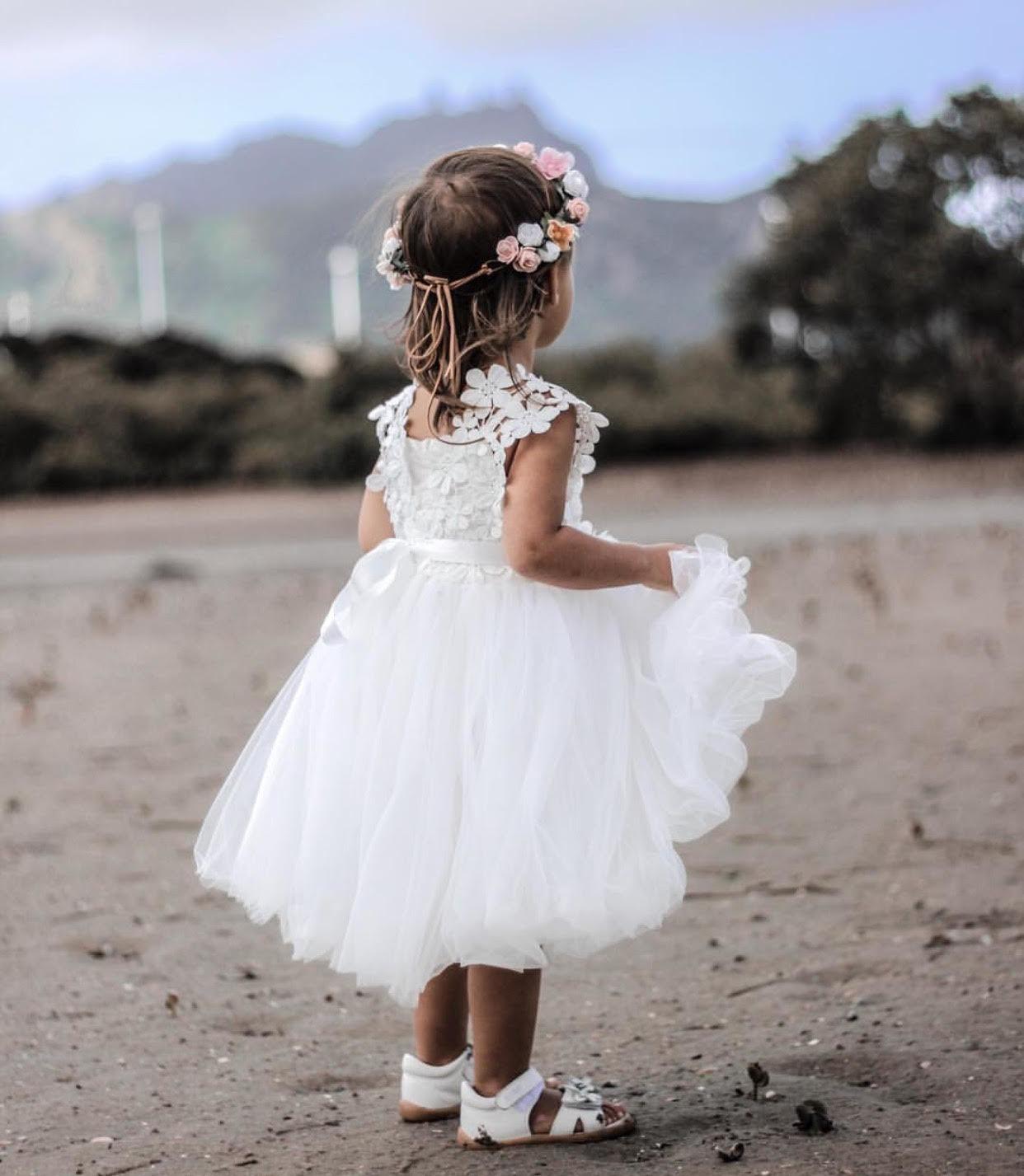 Layla Girls White Tutu Dress