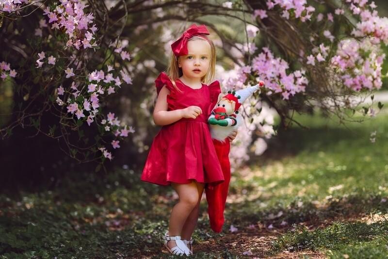 RUBY Girls Christmas Dress | Rich Red