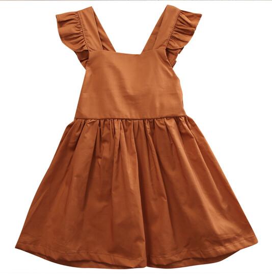 LIZA Pinafore Ruffle Dress