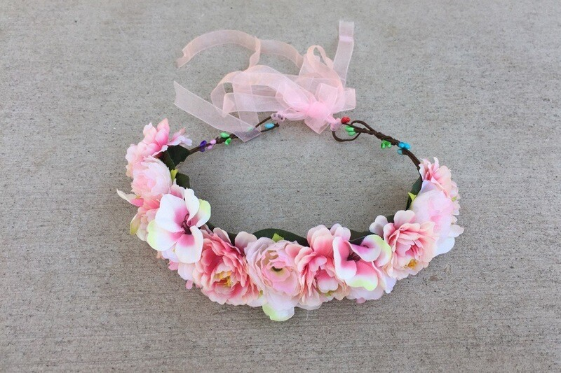 Pretty in Pink Flower Crown