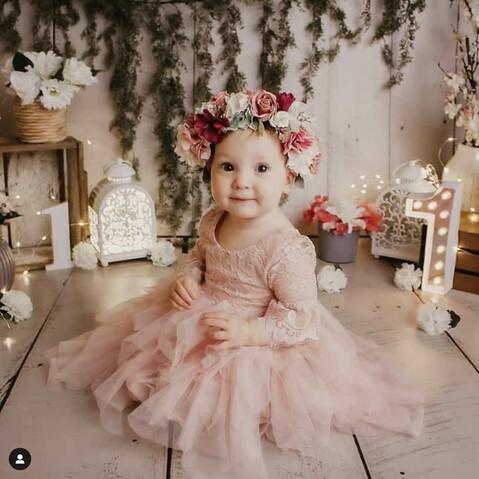 Aurora Grace Dusty Pink Girls Tutu Dress