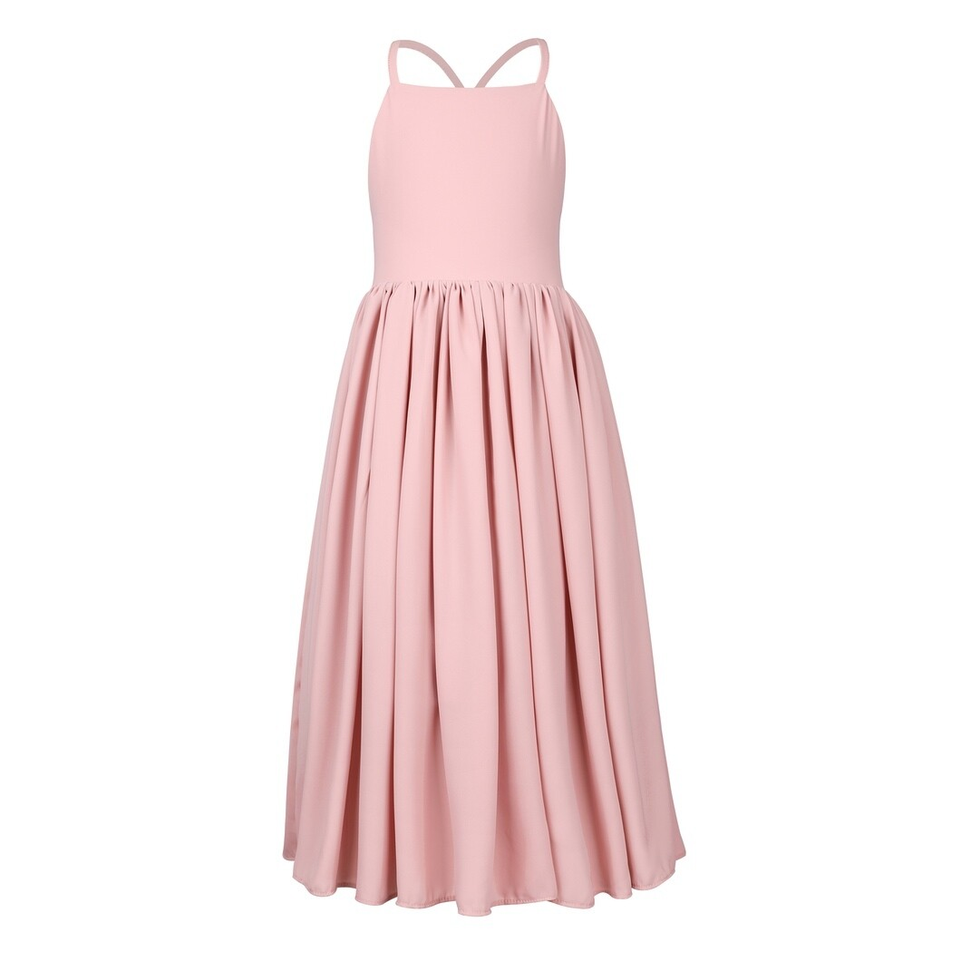Sofia French Chiffon Dress   Dusty Pink