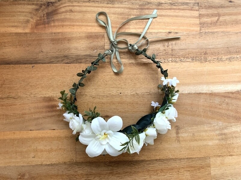 White Lily Flower Crown