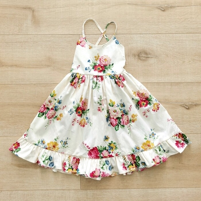 Elsie Girls Dress | Flora