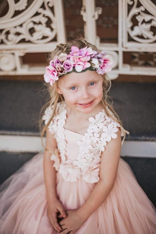 Layla Tutu Dress | Dusty Blush Coral