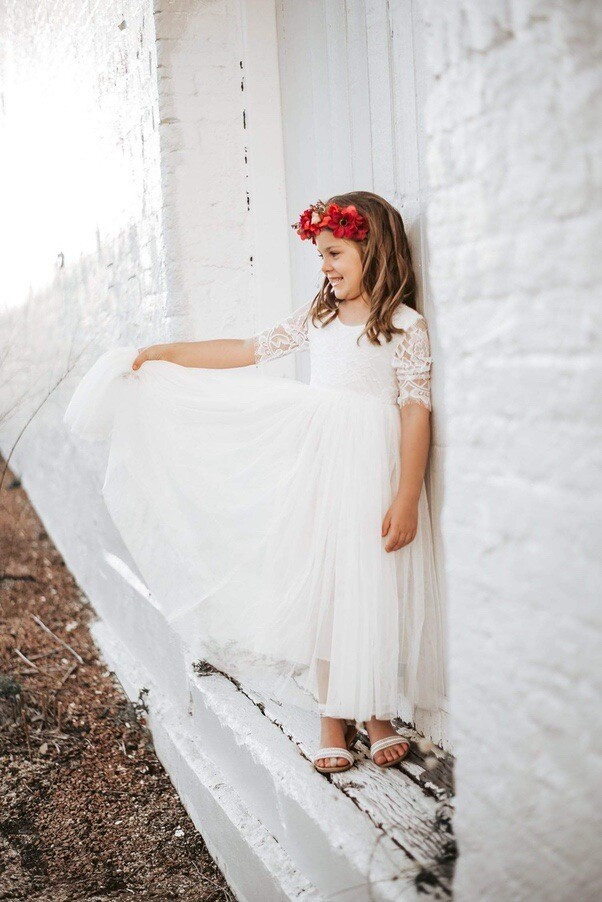 Maia White Lace Dress