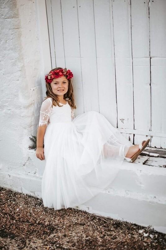 Maia White Lace Dress