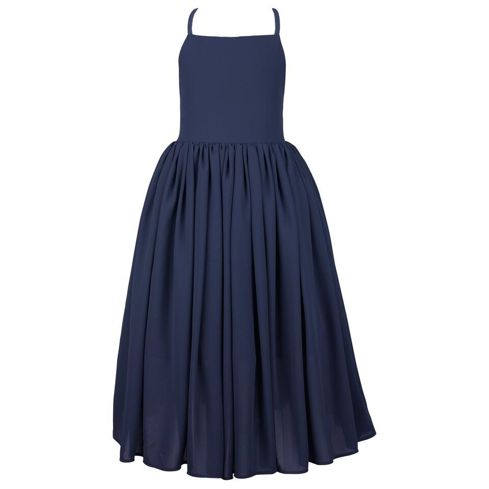 Sofia French Chiffon Dress | Navy Blue