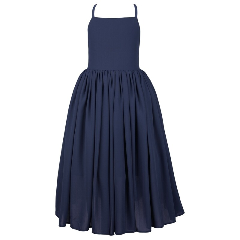 Sofia French Chiffon Dress | Navy Blue