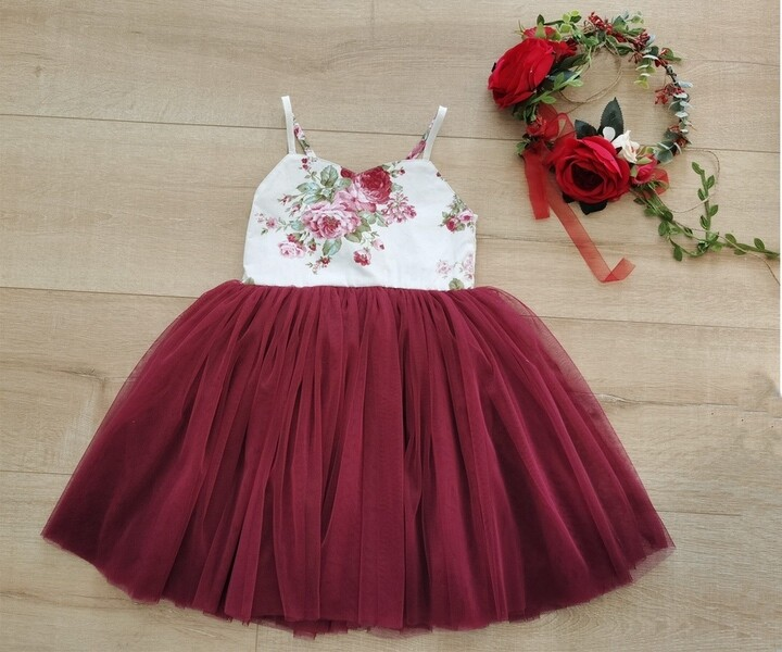Aria Tutu Dress | Wine