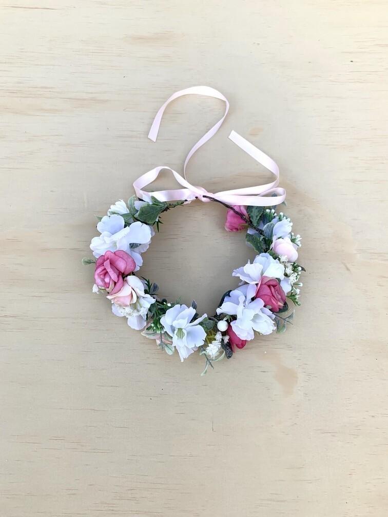Girls Willow Flower Crown