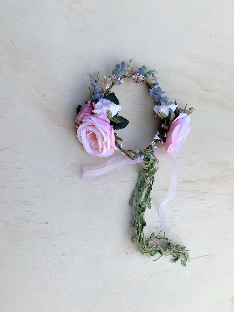 Marla Girls Boho Crown | Soft Pink