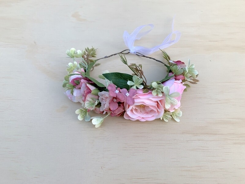 Leilani Girls Pink Flower Crown