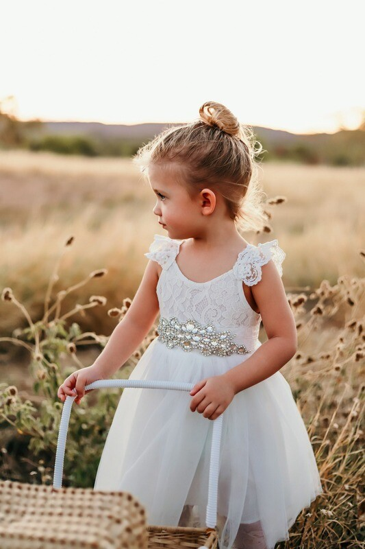 Enchanted Angel Girls White Tutu Dress