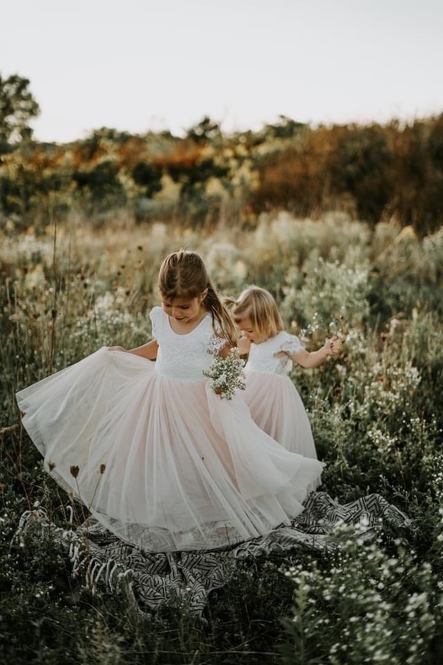 Celeste Dress   White & Peach