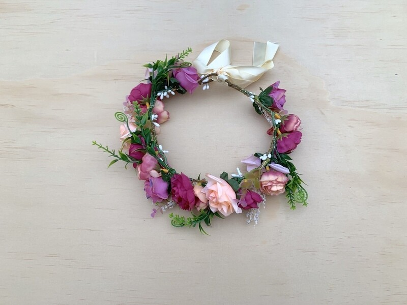 Lillian Girls Flower Crown