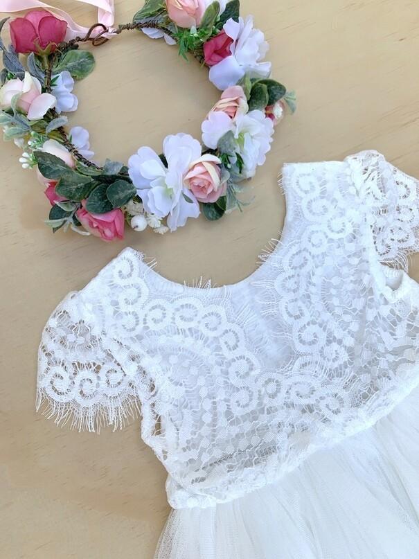 Leilani Girls Dress | Ivory