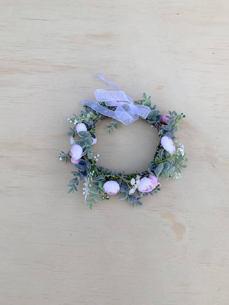 Soft Pink Snow Crown