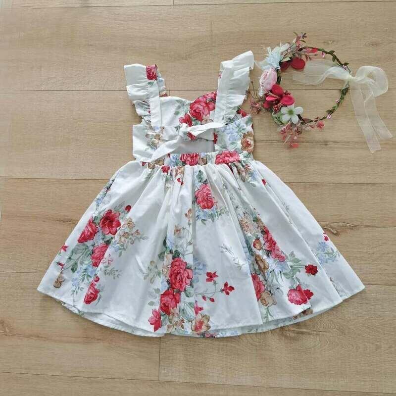Faith Floral Girls Christmas Dress