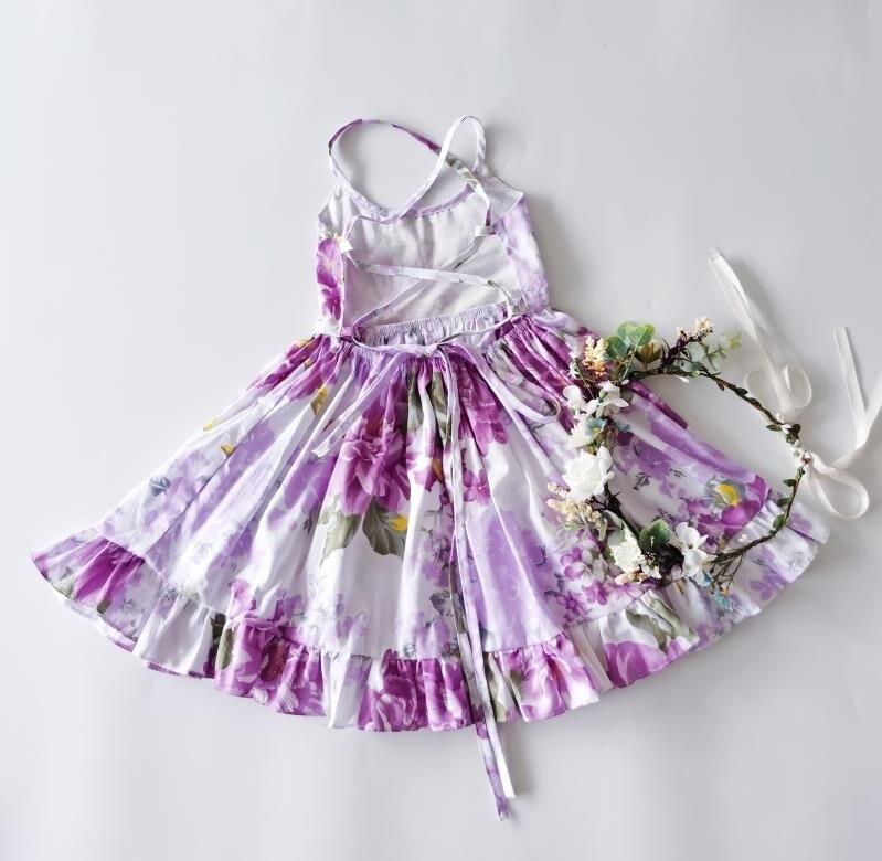Elsie Girls Dress | Purple Haze