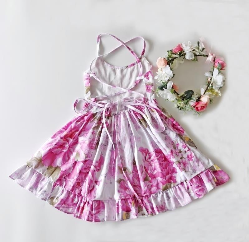 Elsie Girls Dress | Pink Haze
