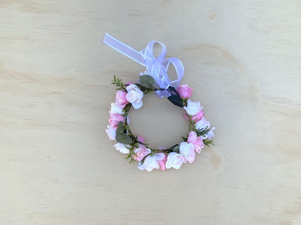 Macie Girls Soft Pink Flower Crown