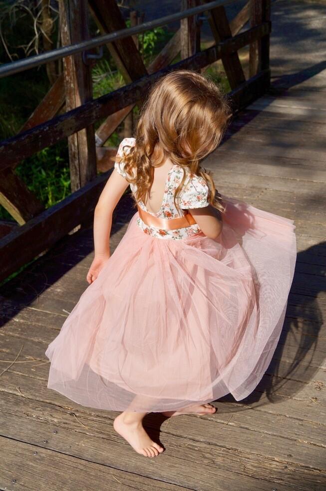 Willow Dress | Peach - Cap Sleeve