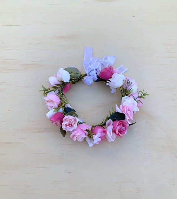 Sadie Girls Dark Pink Flower Crown