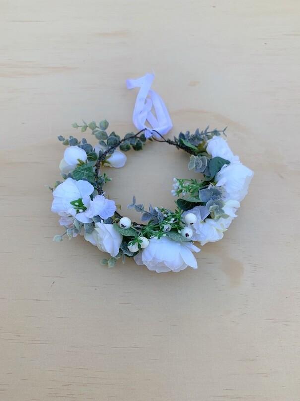 Daphne Girls White Crown