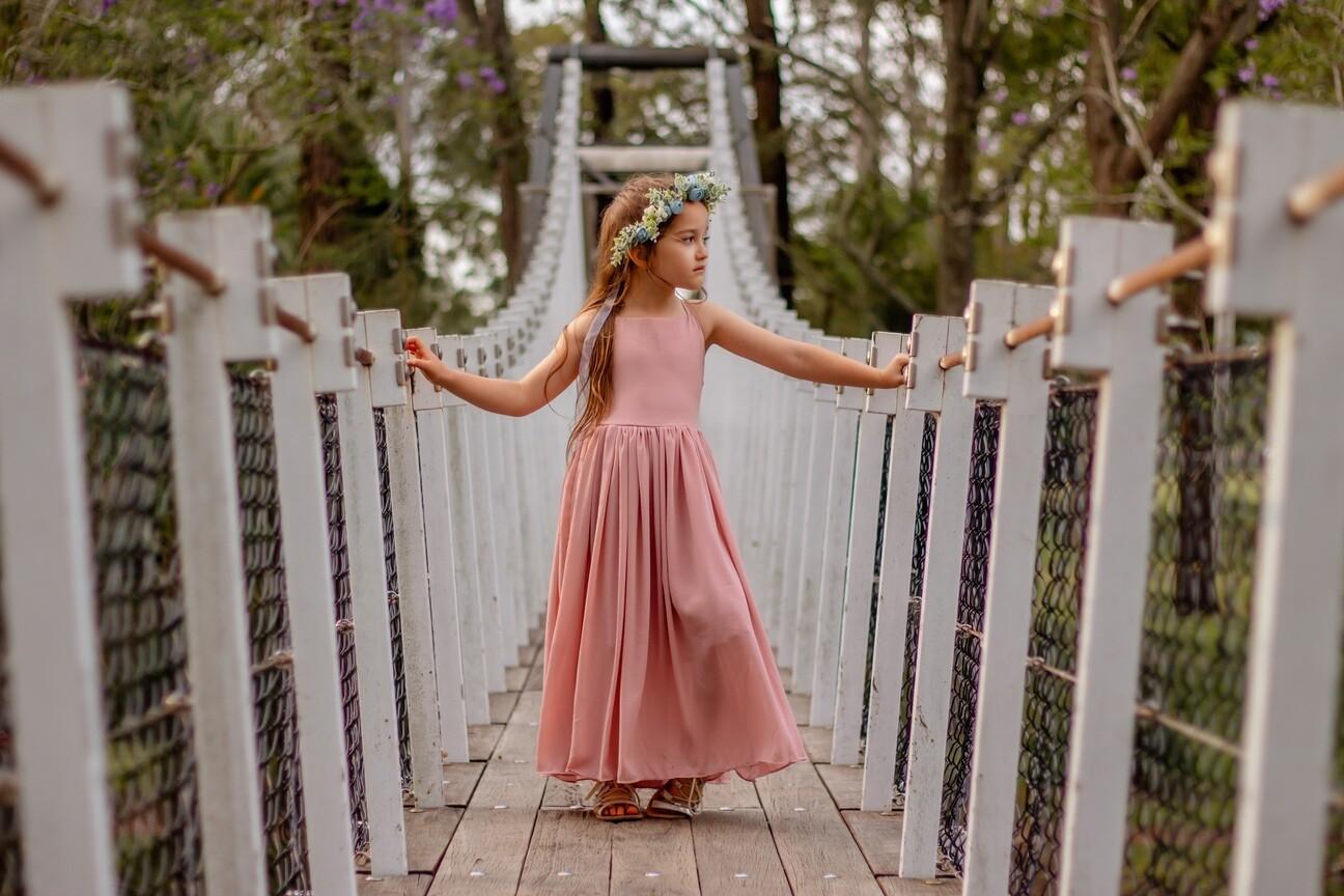 Sofia French Chiffon Dress | Dusty Pink