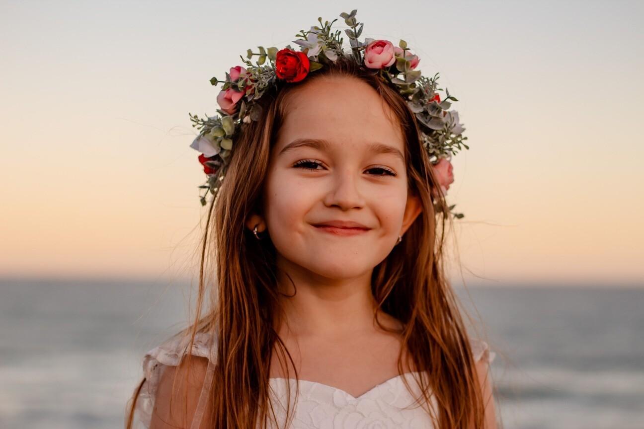 Emilia Girls Flower Crown