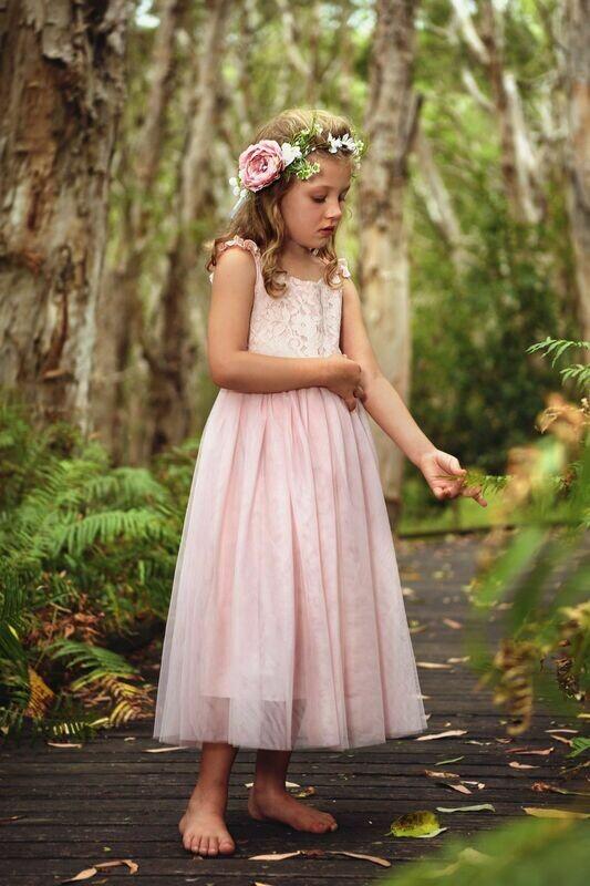 Enchanted Angel Girls Pink Tutu Dress