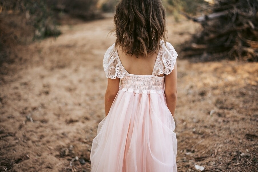 Angelika Girls Dress | Blush