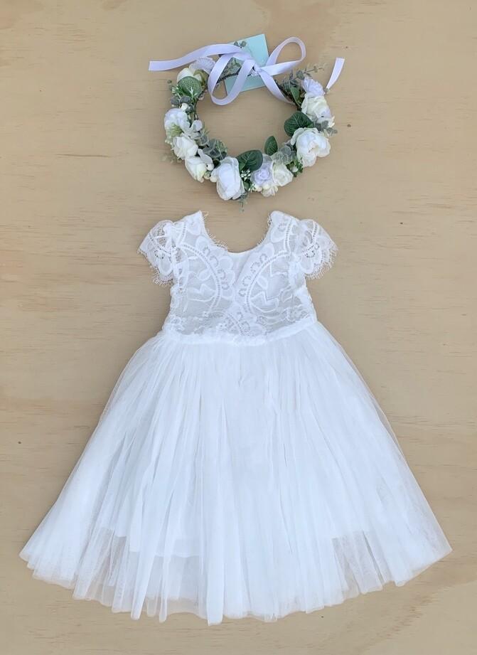 Celeste Dress | White