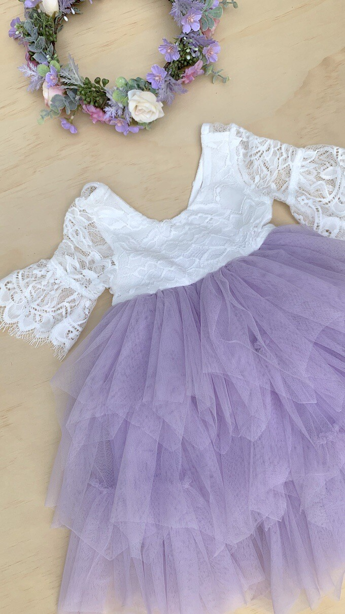 Aurora Grace Dress | With Sleeves | Lilac