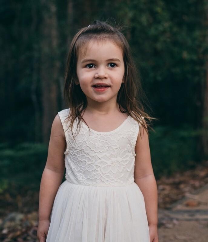 Juliette Dress  V Back Sleeveless | Ivory