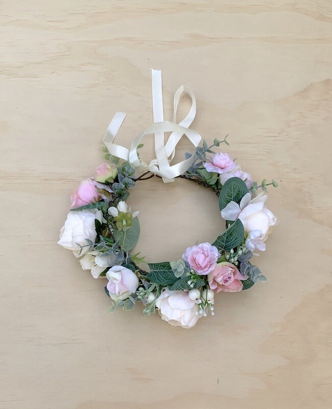 Serenity Girls Flower Crown