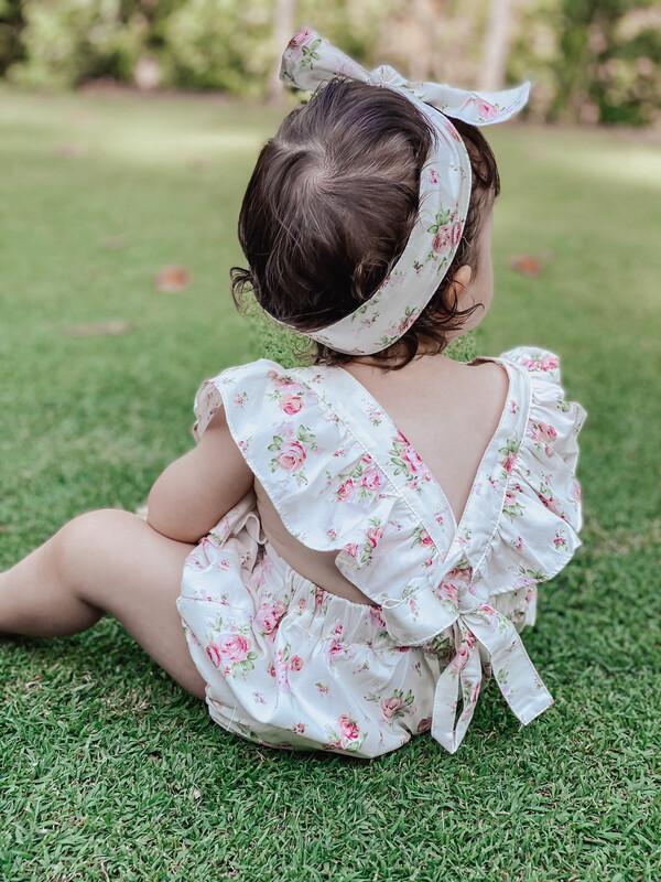 Evelyn Baby Girls Romper